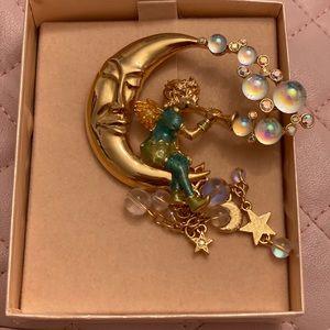 Vintage NWT Kirks Folly moon brooch
